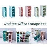 CRITY Aufbewahrungsbox, Creative Vier Gitter Lagerregal Büro Desktop Federmäppchen Stifthalter Briefpapierkasten Würfel Socken Ablagekorb (Grün, L)
