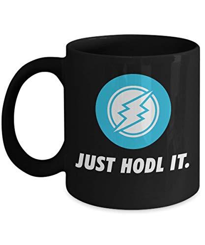 Officiell Electroneum Just HODL It Cryptocurrency mugg akryl kaffehållare svart 325 ml krypto gruvarbetare blockkedja investering handel köp sälj Hold ETN