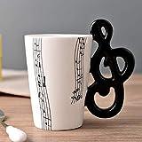 Taza de música de cerámica Taza Guitarra eléctrica Instrumento musical Taza de agua Taza de café creativa Taza de porcelana esmaltada