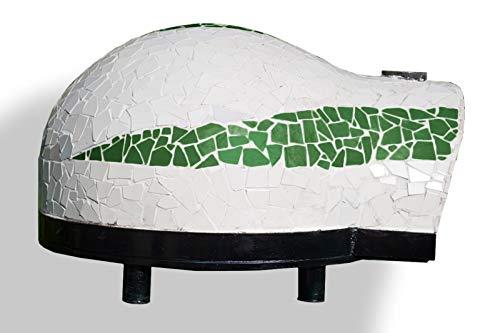 Garden 80 – Horno de leña profesional refractario para jardín exterior de 80 cm (4 pizzas) – Color verde