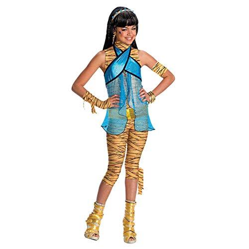 Savahe Monster High Cleo De Nile Kostüm Kinder / Karneval Fasching Cleopatra Party (140/146 Gr. L)