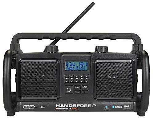 Perfectpro HANDSFREE 2 Tragbares Radio analog und digital, Schwarz – tragbare Radios (tragbar, analog und digital, DAB+, UKW,88 – 108 MHz, 20 W, 10,2 cm)