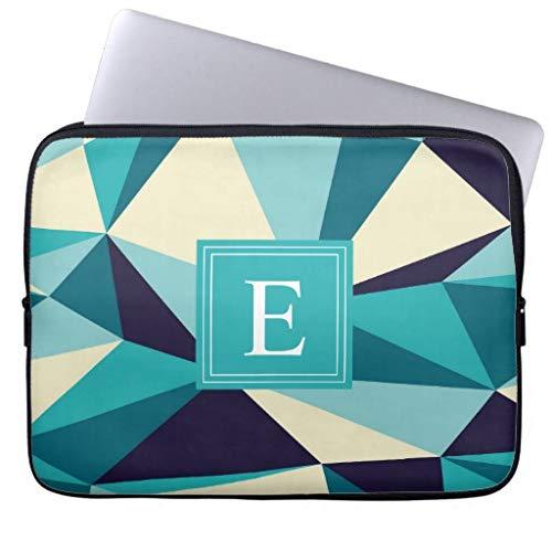 Cool zwart wit typografie eenvoudige moderne patroon laptop sleeve laptoptas geschenken voor mannen kleine formaat zachte neopreen mouw 13 inch Stijl 5