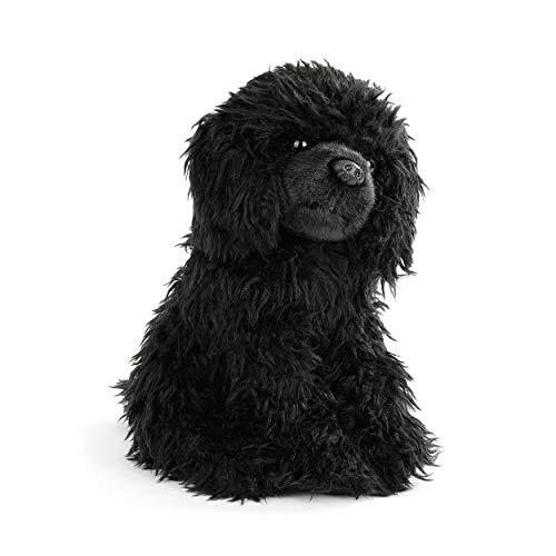 DEMDACO Loyal Poodle Curly Fuzzy Black 10 inch Plush Fabric Stuffed Figure Toy