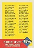 1991 Topps Archives 1953 #337 Checklist 281-337 Near Mint/Mint