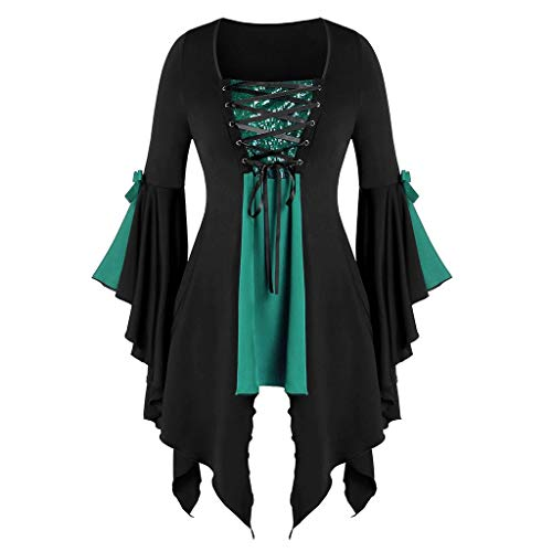 Forthery-Women Clearance Medieval Dress, Vintage Dresses Celtic Medieval Maxi Dresses Renaissance Gothic Cosplay Dress(Green,6)