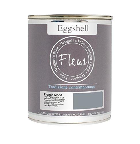 Fleur Designer'S Paint Fleur Eggshell nagellak, mat, hoge weerstand voor meubels en grote oppervlakken - 0,75 l - French Mood
