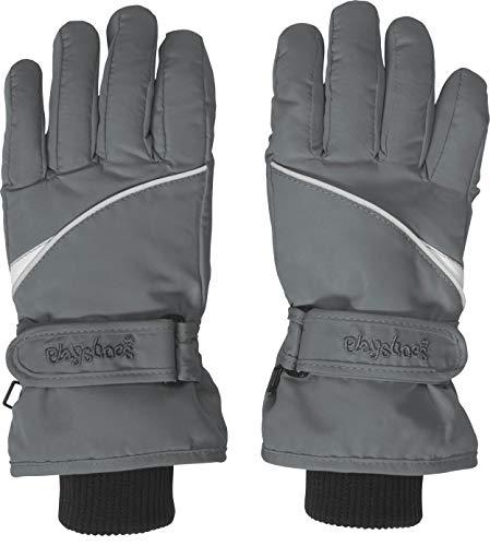Playshoes Kinder-Unisex Skihandschuhe Thinsulate Fingerhandschuhe mit Klettverschluss, grau, 5