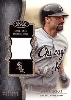 2012 Topps Tier One Relics #TSR-PK Paul Konerko Game Worn Jersey Baseball Card - Only 399 made!