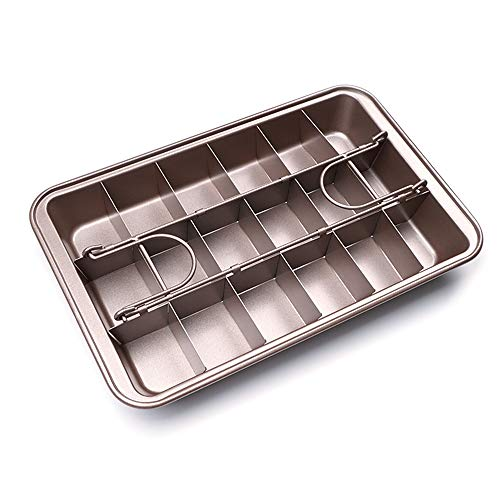 JINNIN Bread Mold, 18 Small Square Non-Stick Coated Bread Baking Molds, Suitable for Making DIY Cakes, Bread, Meatloaf, Quiche, Toast,Silver