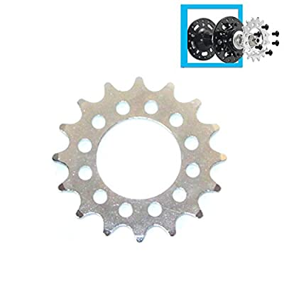 L-faster 16T Fixed Gear for Bicycle Disc Brake Mount Bolts-Fixed Chain Wheel 6 Screw Disc Hub Convert to Fix Gear Single Speed Fixed Cog