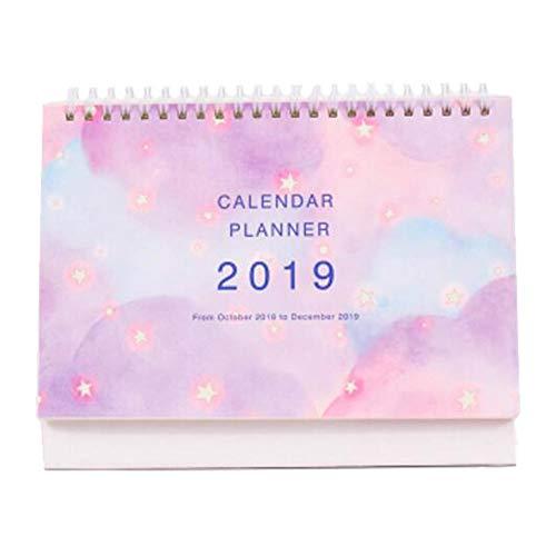Kleiner Monatskalender Akademisches Jahr Tischkalender 2018-2019 Desk Scheduler-A01