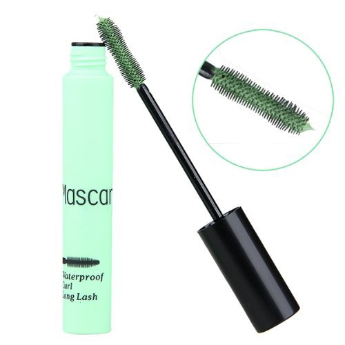 TOOGOO(R) Wimperntusche Mascara Augen Kosmetik Verlaengerung Wasserfest Gruen Makeup Cosplay
