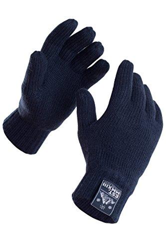 Manufaktur13 Rough Gloves - Handschuhe, Vollfingerhandschuhe, Unisex Strickhandschuhe mit Thinsulate Futter in verschiedenen Größen/Farben (S/M, Navy)