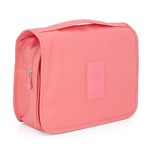 KAEHA SUN-42-08 - Beauty case con gancio, impermeabile, per viaggio, campeggio, rosa rossa