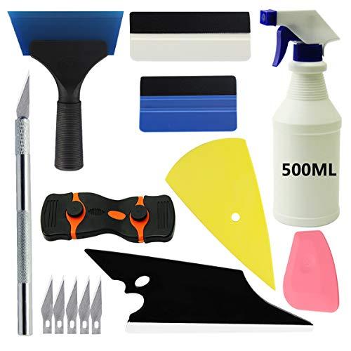 YXGOOD Car Window Tint Application Tools Kit, 9 Pcs Vehicle Glass Protective Film Installing Tool Car Window Film Squeegee Automotive Film Scrapers Window Tint Tools (9)