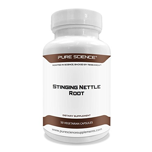 Pure Science Stinging Nettle Root Extract 500mg (300mg Nettle Root Extract at 1% Silica & 200mg Nettle Root Powder) - 50 Vegetarian Capsules