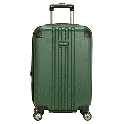Kenneth Cole Reaction Reverb 20' Carry-On Expandable Luggage Lightweight Hardside 8-Wheel Spinner Travel Suitcase Bag, Hunter Green, inch