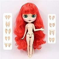 ブライス Blythy 人形 1/6 bjd白スキンマット面赤髪1061 30 センチメートル,doll with hand AB