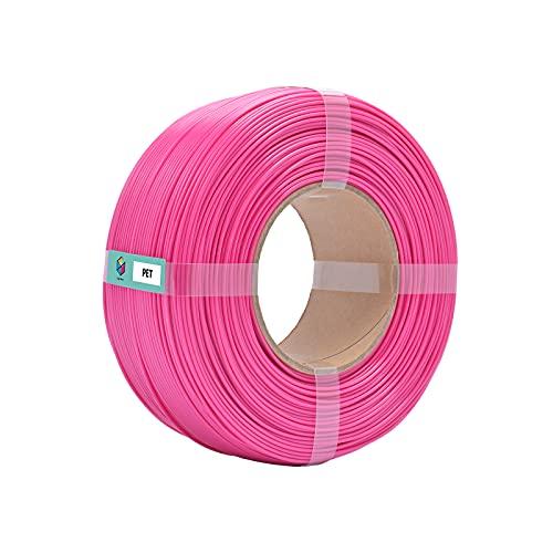 Color Matrix 1.75mm PET(Tolerance: ±0.03mm), 3D Printer Filament 1KG (=2.2 lbs) 【Refills】, Without Reusable Spool-Magenta