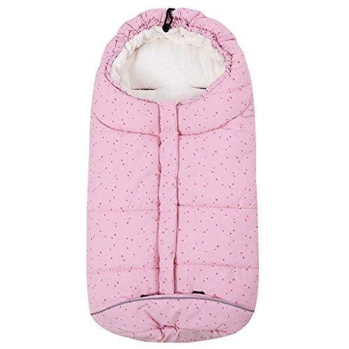 Baby Schlafsack 3 Tog, Kinderwagen Schlafsack Neugeborenen Fußsack 0-6 Monate, Rosa Stern