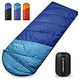 Bessport 3 Season Sleeping Bag 40℉/5℃ Lightweight Camping Sleeping Bag Water Repellent...