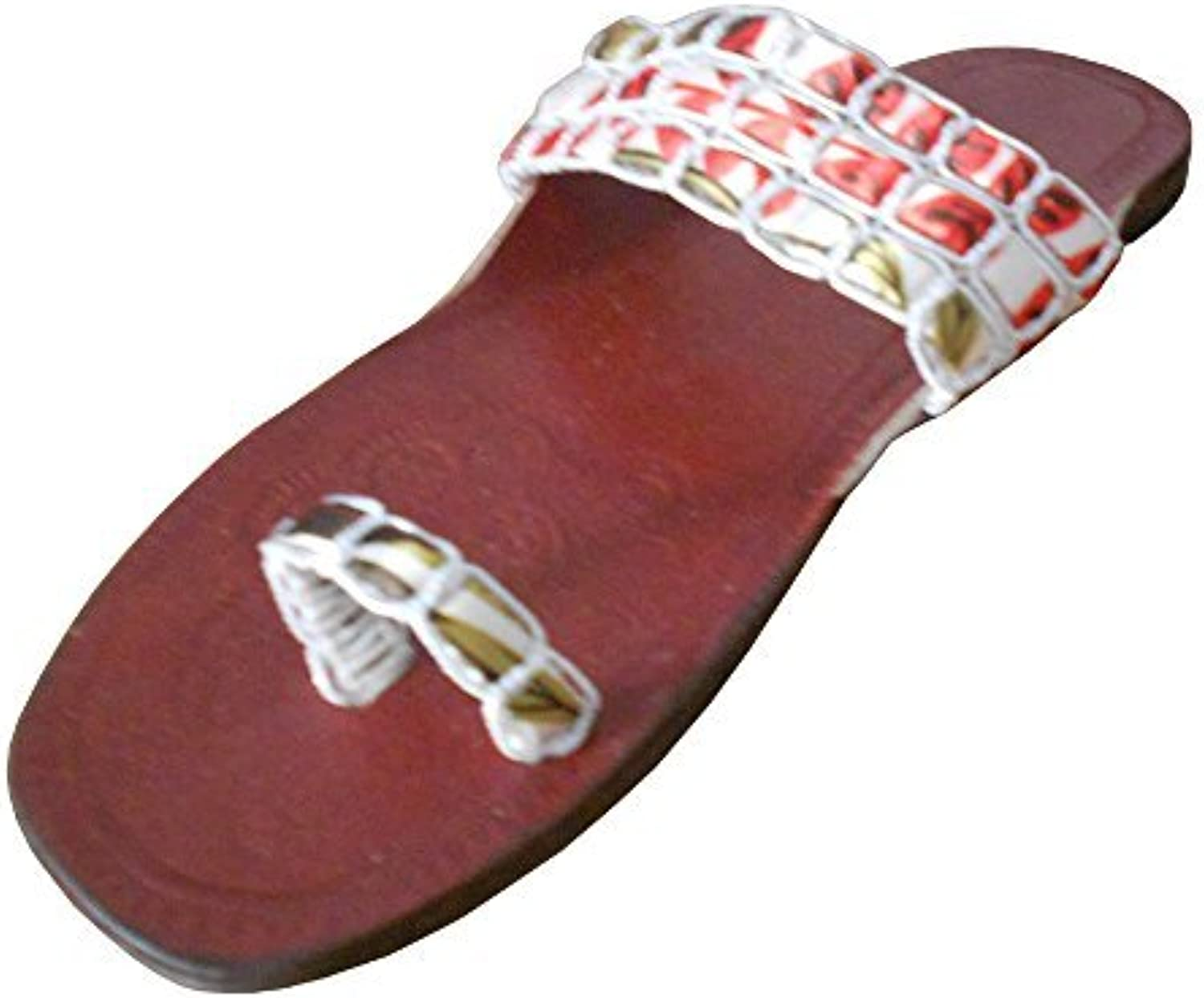 Kalra Creations Women's Traditional Leather Ethnic Slippers