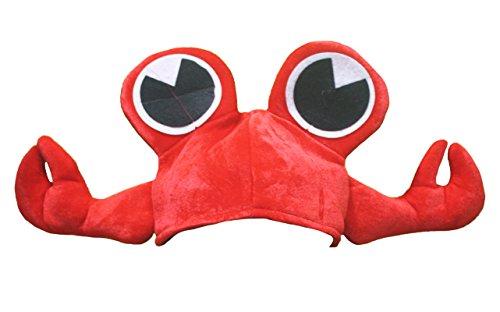 Sombrero unisex de Petitebelle con diseño de cangrejo rojo para fiesta de disfraces, talla única