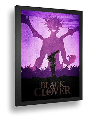 Quadro Decorativo Poste Black Clover Dragão Anime