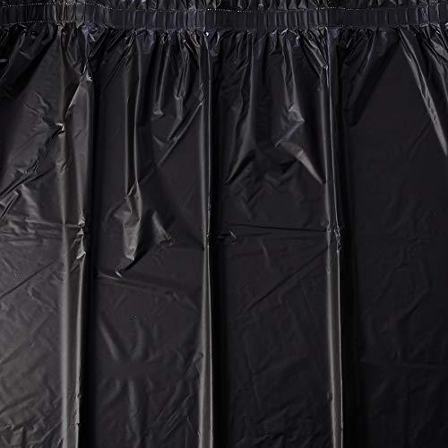 Creative Converting Plastic Table Skirt, 14-Feet, Black Velvet