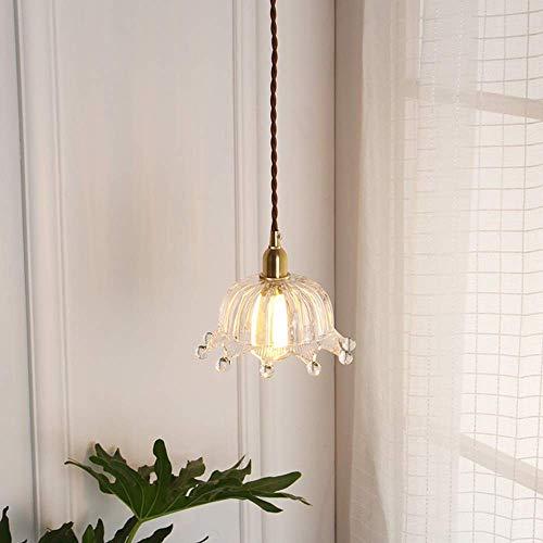 DJY-JY Domo luz nórdica guardarropa pasillo habitación de los niños princesa habitación corona latón lámpara de cristal decoración del hogar