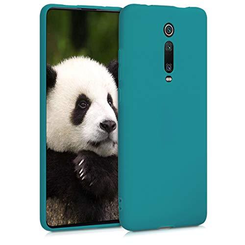 kwmobile Funda Compatible con Xiaomi Mi 9T (Pro) / Redmi K20 (Pro) - Funda Carcasa de TPU Silicona - Protector Trasero en petróleo Mate