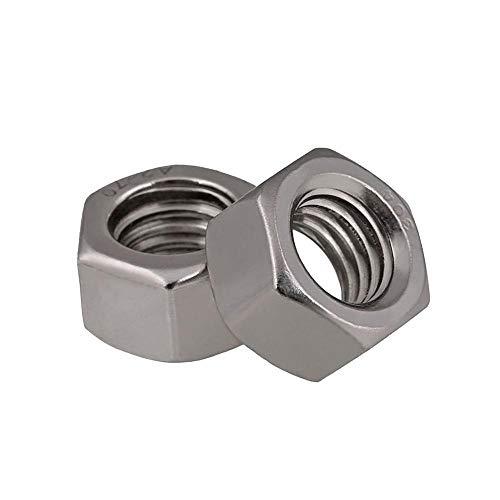 Tuercas hexagonales 1/2'-12 1/8' -40 3/16'-24 5/32' -32 UK Standard Hexagon Nuts 304 BSW de acero inoxidable YUAN CHUANG (Color : 1/8''-40 20pcs)