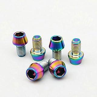 4pcs M6x20mm Titanium Ti Golden Bolt For Disc Brake Rotor 12pcs M5x10mm