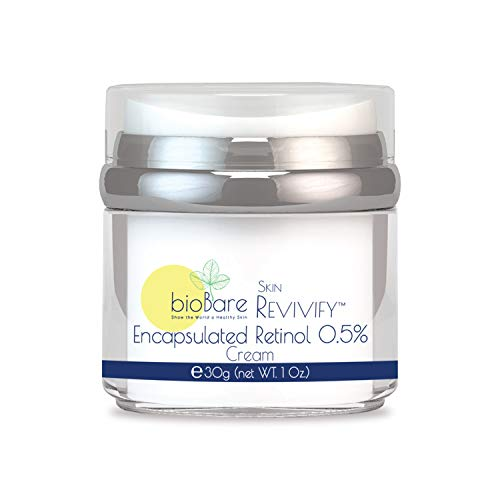 Skin REVIVIFY Encapsulated Retinol Cream 0.5% By BioBare | Reduces Appearance Of Fine Lines & Wrinkles | Natural Anti-Aging Cream, Enhances Cellular Health | 1 Oz.