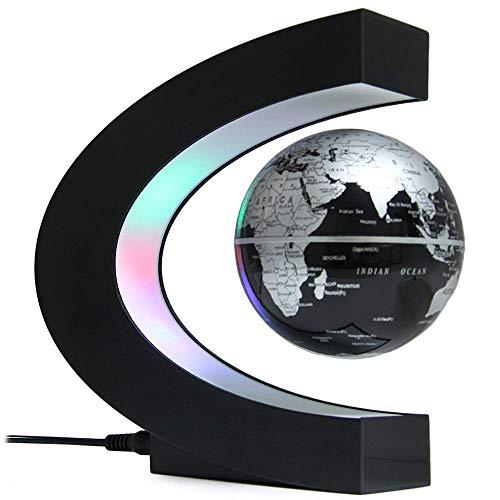 Shihui light Elegante Lampada da Tavolo a Forma di C a Sospensione Magnetica con mappamondo a Terra fluttuante con luci a LED Colorate per l'illuminazione del Desktop