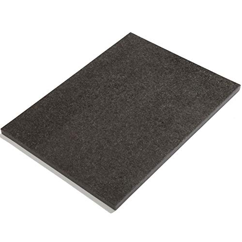 Diflart Natural Black Granite Stone Pastry Cheese And Cutting Serving Baking Board Slab 16x20x4/5 Inch
