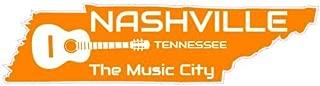 U.S. Custom Stickers Nashville Tennessee Music City Sticker, 3