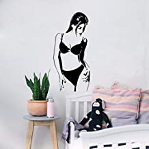 Pbldb 24X52Cm Wall Sticker Lingerie Hot Naked Girl Woman Lady for Bedroom Detachable Home Wall Sticker
