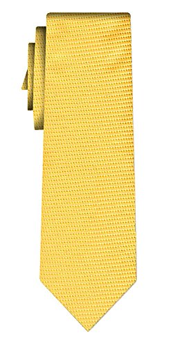Cravate soie unie solid yellow lime texture
