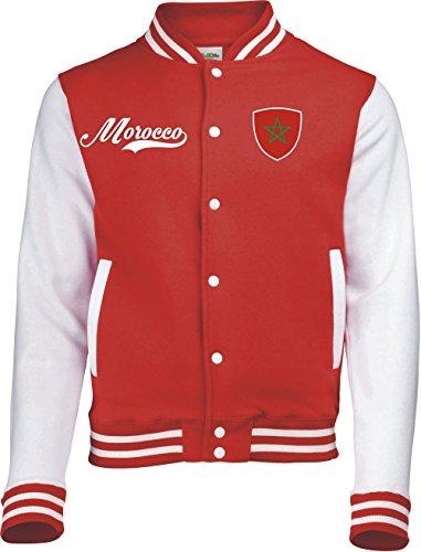 Aprom-Sports Marokko College Jacket - Retro - ROOD -1