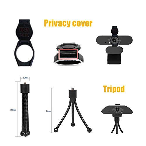 BBO 1080P HD Webcam con Micrófono Y Cubierta de privacidad,USB Web Camera con trípode, para Portátil Videollamadas, Conferencias, Juegos, Plug y Play, Cámara Web HD de Enfoque Fijo miniatura
