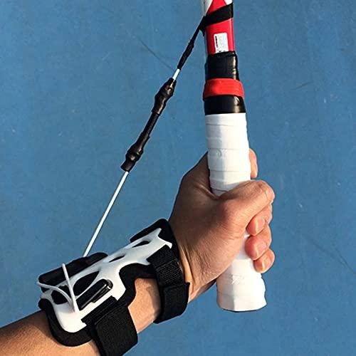 Entrenador de tenis, ayuda para el entrenamiento de la muñeca del swing de tenis,entrenamiento correcto del movimiento incorrecto de la muñeca del tenis,utilizado para mejorar la estabilidad d
