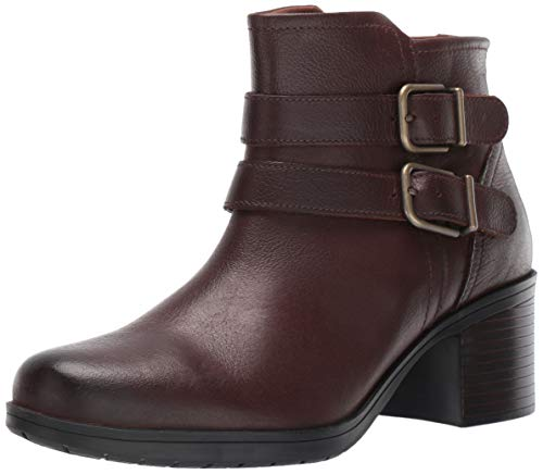 Clarks Women's Hollis Pearl Fashion Boot, Mahogany Leather, 55 M US