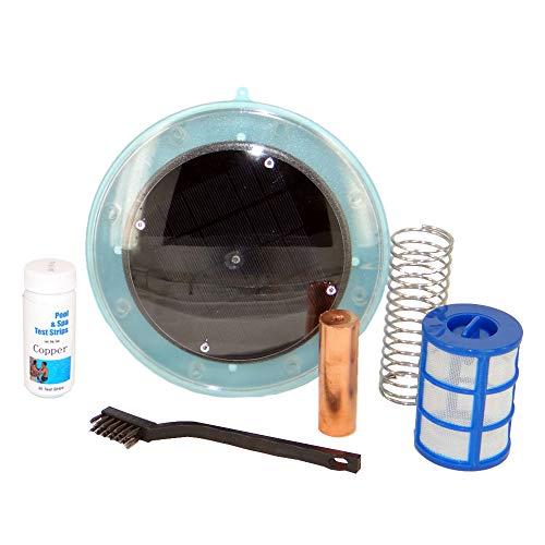 Zonne-ionisator voor zwembad, 80% besparing van chemicaliën.