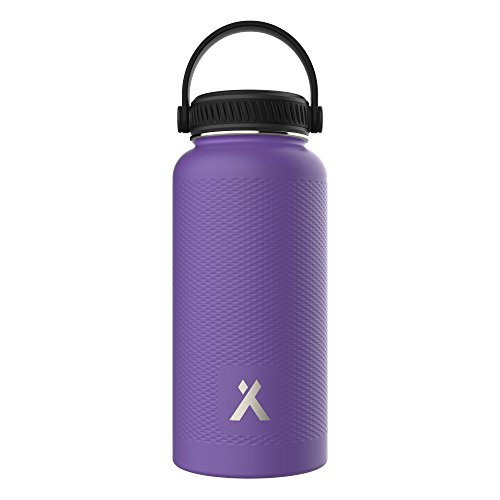Bear Grylls Vacuum Insulated Water Bottle (32oz, Lavender) for 12 Hours Hot & Cold I Leakproof Stainless Steel Drinks Bottle & Thermos Flask I Ideal for Hiking, Camping, Sports, Gym & Yoga