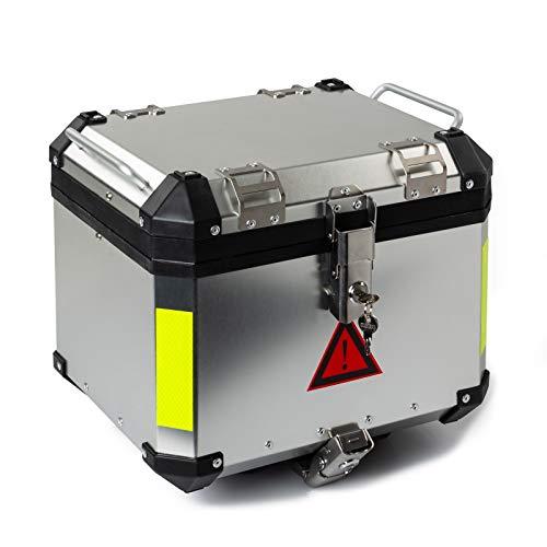 Heckbox Motorradbox A-PRO Aluminium 45L Silber