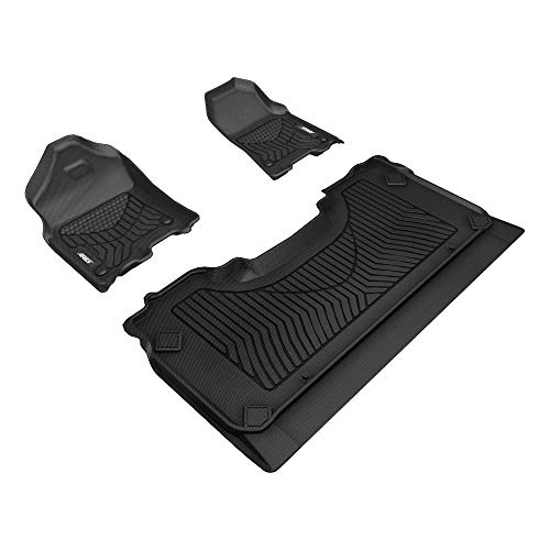 ARIES 2808909 StyleGuard XD Black Custom Floor Liners, Select 2019-2020 Ram 1500 Crew Cab with Bucket Seats, 1st and 2nd Row