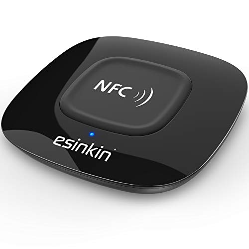 Esinkin Bluetooth Receiver Wireless, NFC-Enabled Audio Adapter 4.0 for HD Home Stereo Music Streaming Sound System for 3.5mm (AUX and RCA)