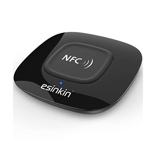Bluetooth Receiver Wireless, NFC-Enabled Audio Adapter 4.0 for HD Home Stereo Music Streaming Sound System for 3.5mm (AUX and RCA) 3